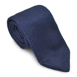 Elegant Blue Men Knitted Tie