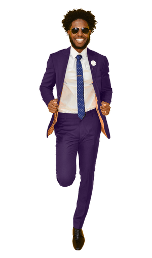 The Regal Plum Suit