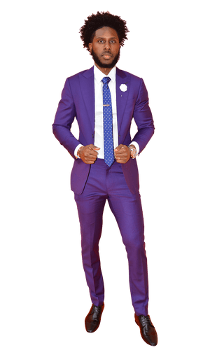 The Regal Purple Suit