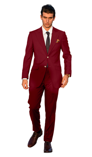 The Regal Maroon Suit