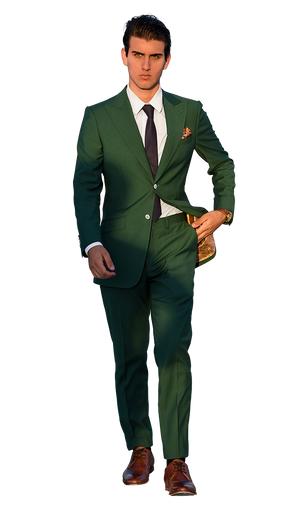 The Regal Forest Green Suit