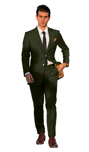 The Regal Olive Green Suit
