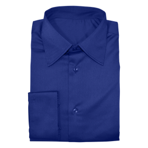 Royal Blue Stretch Cotton Custom Shirt