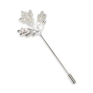 Silver Leaf Lapel Pin
