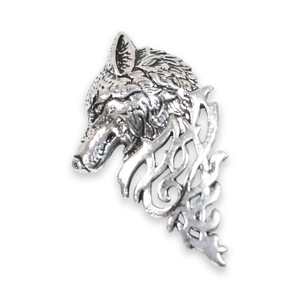 Silver Wolf Lapel Pin
