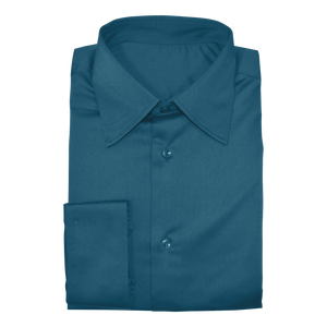 Teal Green Stretch Cotton Custom Shirt