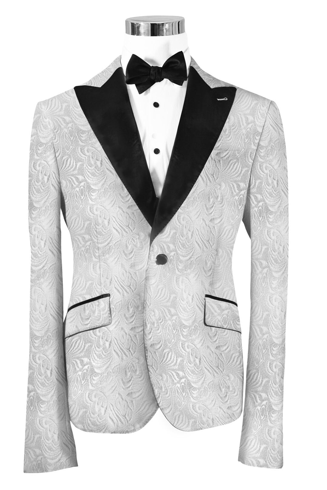 shop for authentic nice cheap picked up The Regal White Paisley Dinner Jacket