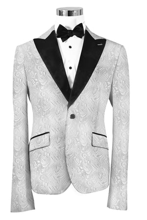 The Regal White Paisley Dinner Jacket