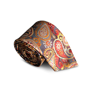 Sunset Gold Paisley Tie