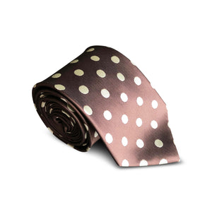 Big Brown Dot Tie