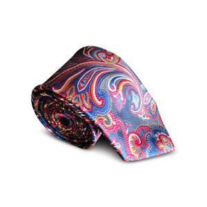Olympic Blue Paisley Tie