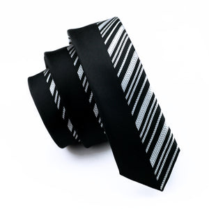 Black & White Men`s Tie