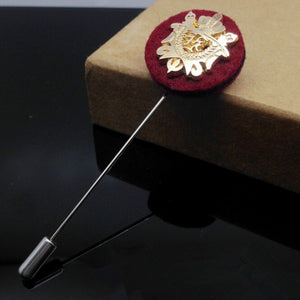 Gold Shield Layered Lapel Pin
