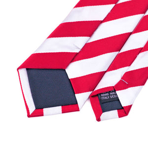 Narrow Red Striped Classic Ties