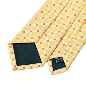 Narrow Yellow Neck Tie For Men