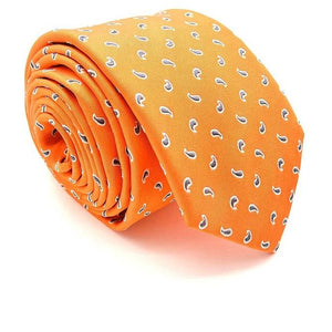 Men's Silk Orange Neck Ties