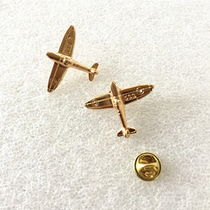 Gold Air Plane Lapel Pin