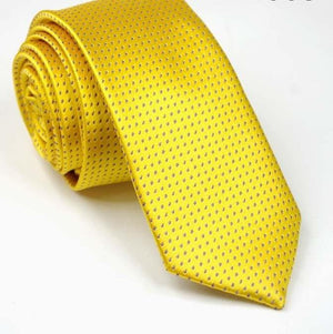 Dot Yellow Gold Solid Silk Ties For Men