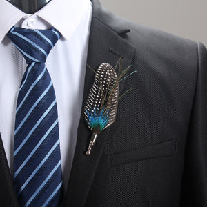 Elegant Feather Lapel Pin