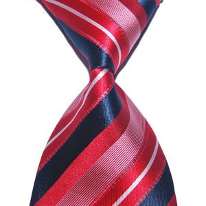Men Wedding Party Silk Striped Tie