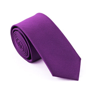 Narrow Dark Purple Skinny Ties For Men