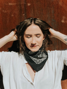 Four Corners Black Bandana