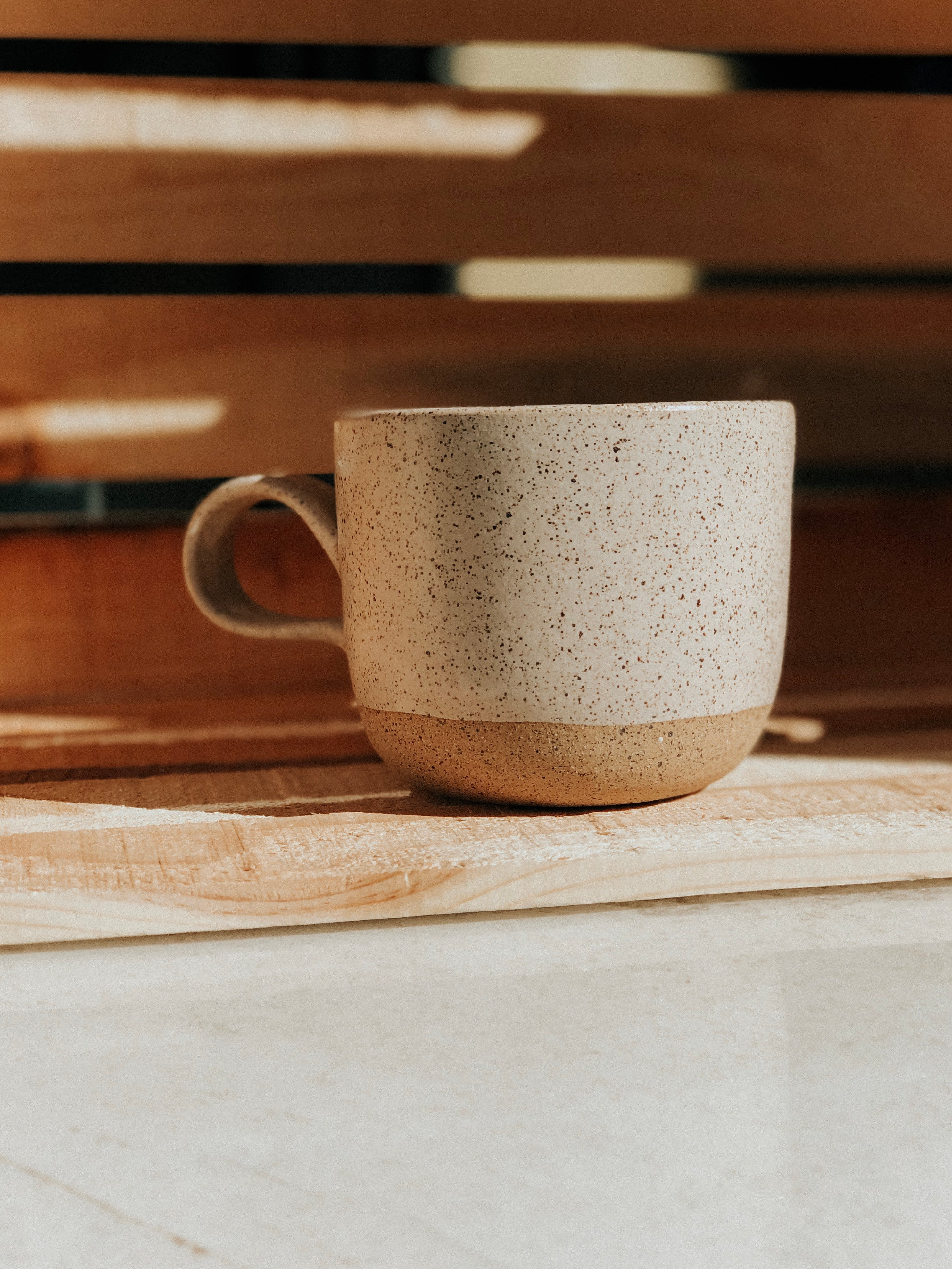 Cream Speckled Mug