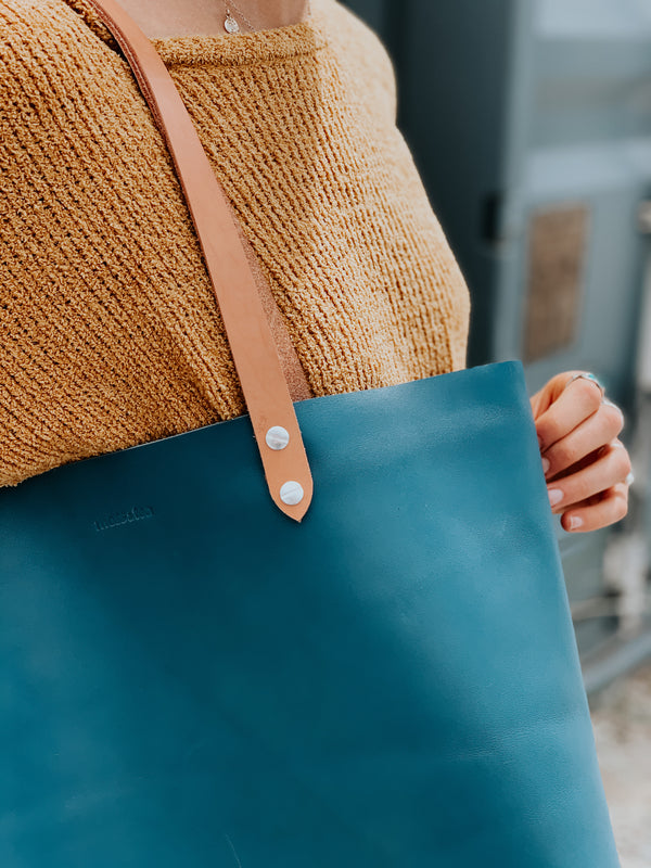 Moss & Tea Leather Tote