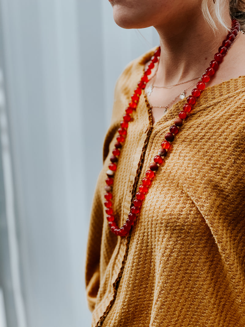 Red Carnelian Necklace