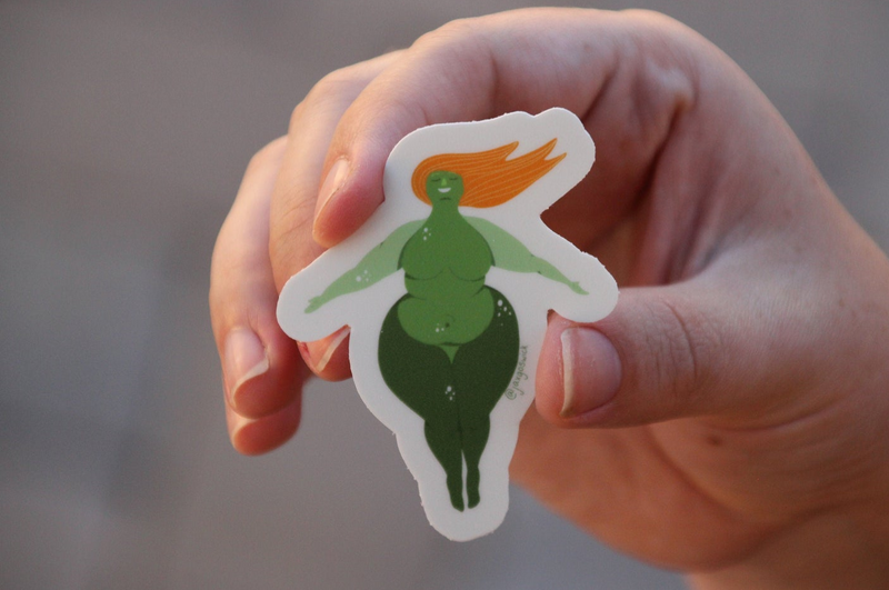 Fat Lady Stickers