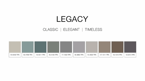 Legacy Home Decor Collection Pantone TPX Colors
