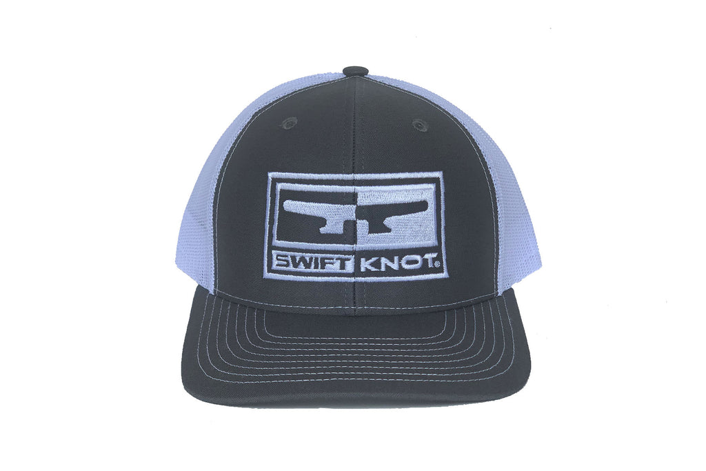 Signature SwiftKnot Logo Hat – Heather Gray & White