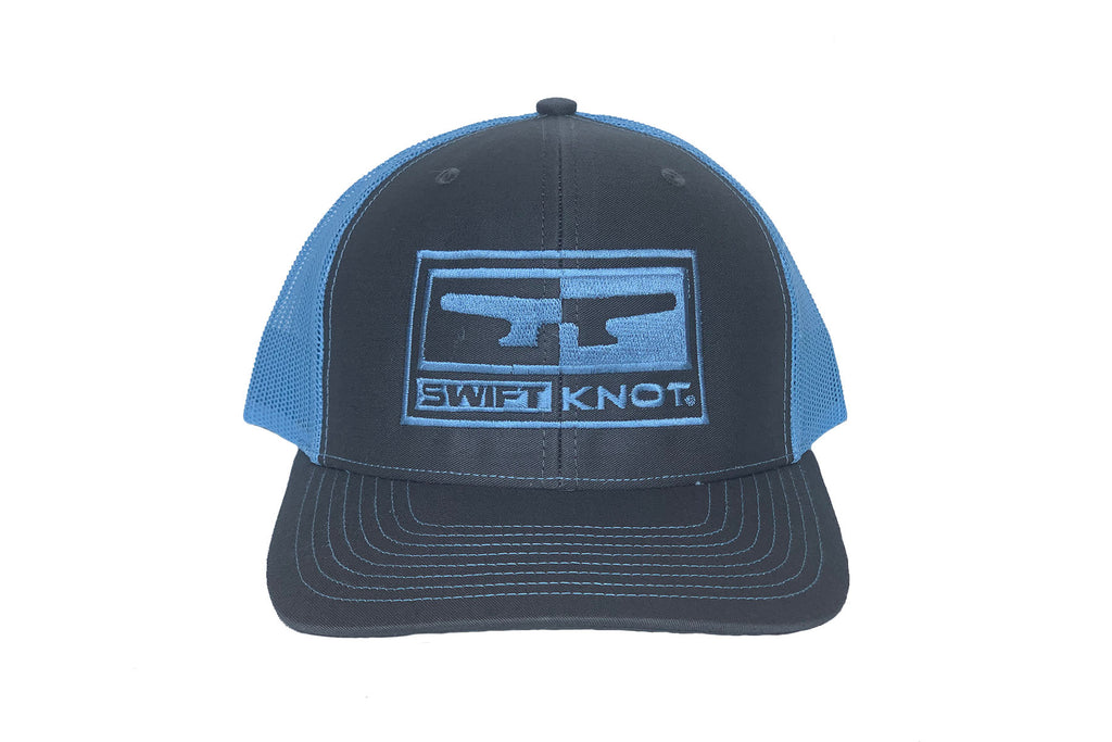 Signature SwiftKnot LOGO HAT - CHARCOAL / COLUMBIA BLUE