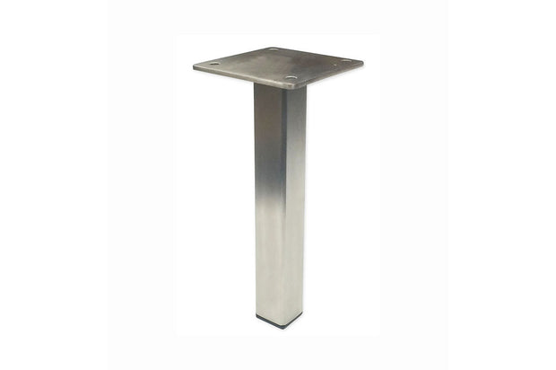 "Center Post 7""H Brushed Steel Leg"