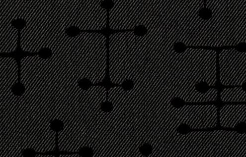 Small Dot Pattern Charcoal Fabric