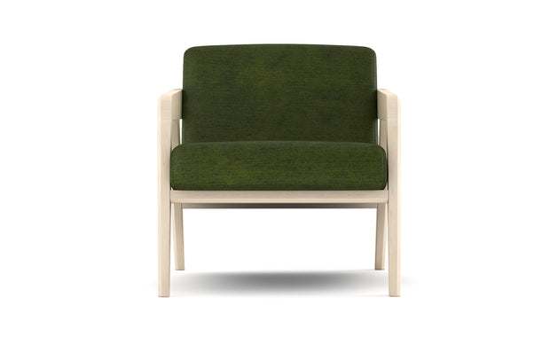 Burr Accent Chair in Maple frame + Tuolumne Deep Forest fabric.