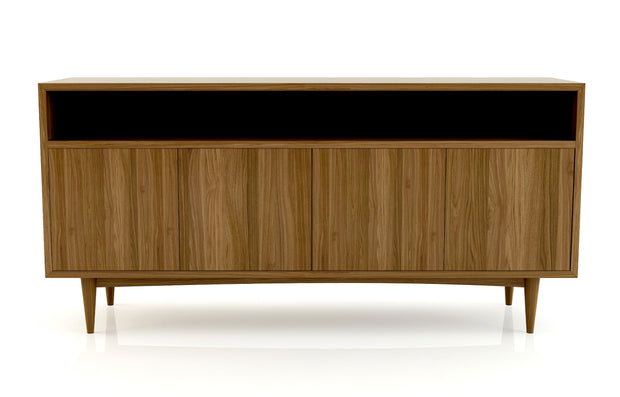 Atten Open Shelf 4-Door Credenza