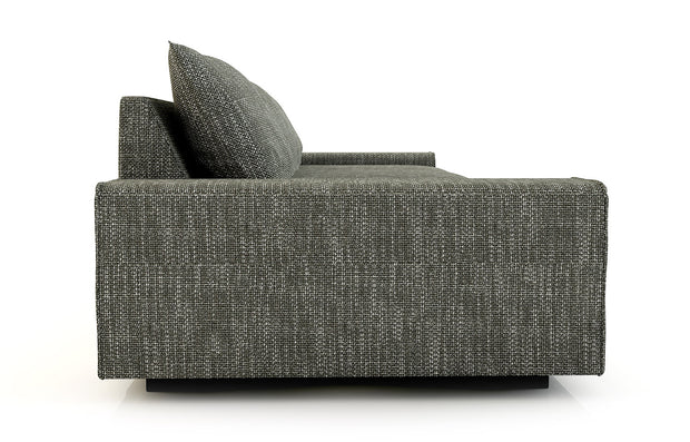 The Blumen has a loungy sit, making it comfortable for talking or watching a movie.