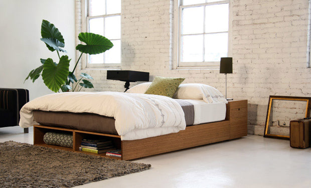 Shown in queen bed with amber bamboo