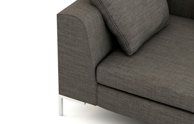 Closeup of the Dekayess Sofa arm.