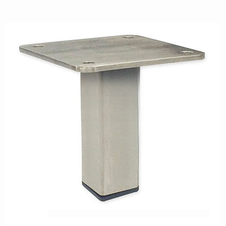 "Center Post 3""H Brushed Steel Leg"