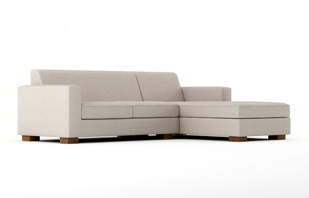 Showing angle view of the Brenem Chaise Right Sectional.