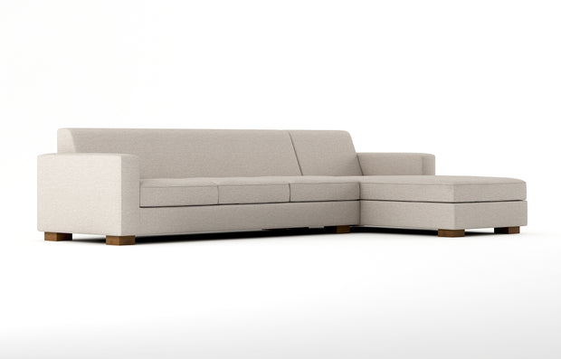 Showing angle view of the Brenem Chaise Right Sectional XL.