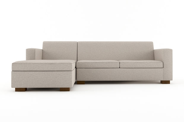 Brenem Chaise Sleeper Sectional - Chaise Left Full Sofa Bed.