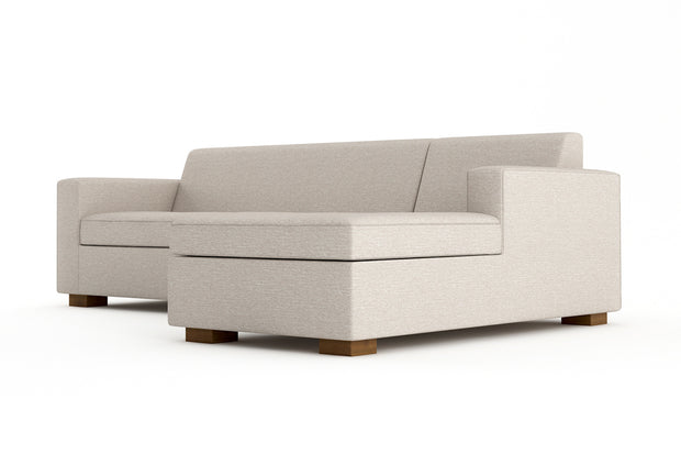 Showing angle view of the Right Full Chaise Sleeper Sectional - Close.