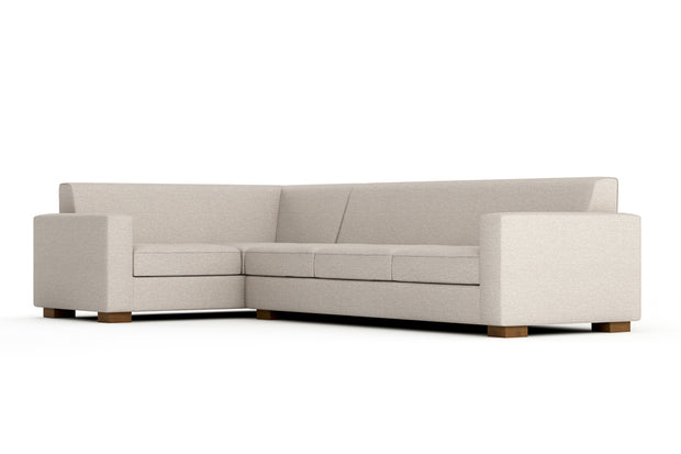 Brenem L Sectional XL Left Eco-Friendly - Latex w/ Down Cushions, Down Pillows