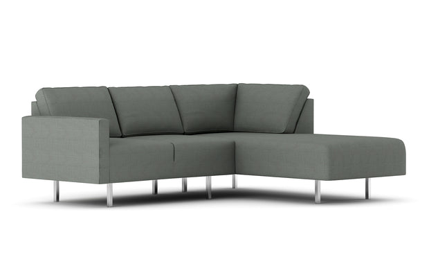 Showing front view of the Metz Apartment Bumper Sectional.