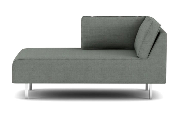 Showing left view of the Metz Apartment Bumper Sectional.