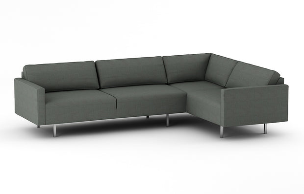 "The Metz Arm Left 75"" shown as part of the Metz L Sectional."