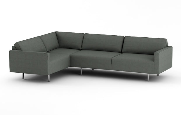 "The Metz Arm Right 75"" shown as part of the Metz L Sectional."